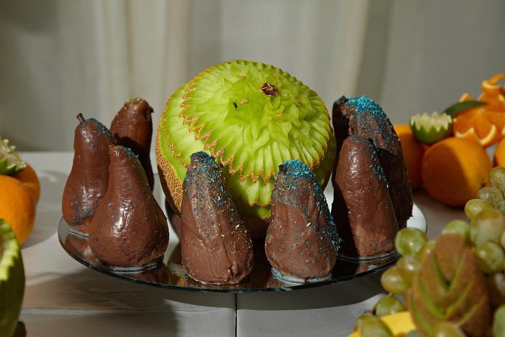 pere invelite in ciocolata