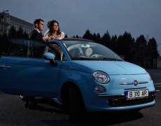 Mireasa in Fiat 500