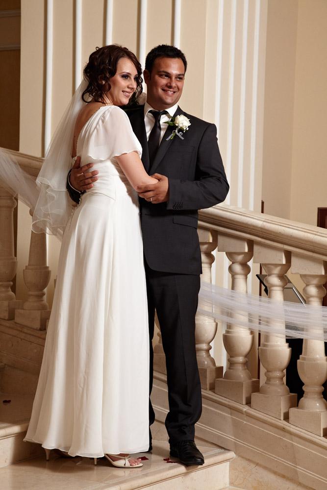 portret cu mirii facut de fotograf nunta