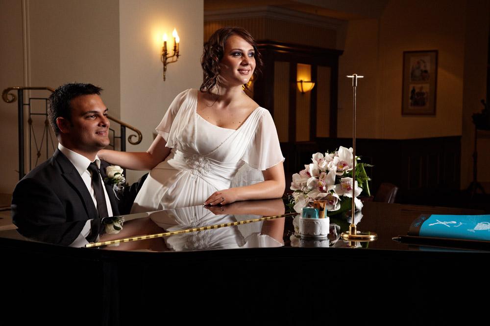 fotograf de nunta la pian