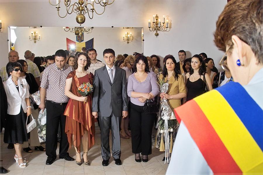 nunta in fata ofiterului starii civile