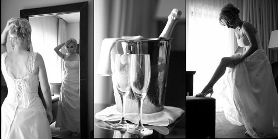 foto cu mireasa in hotel pregatindu-se