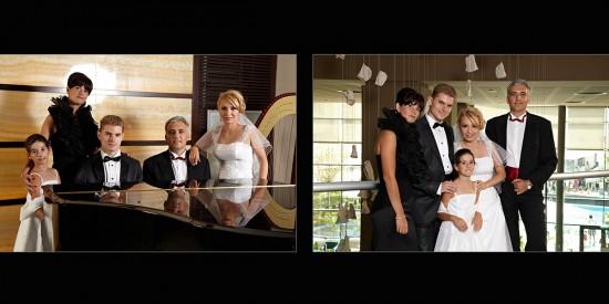 imagini cu mirii si nasii in hotelul Radisson