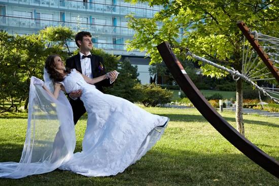 fotografii nunta in parc
